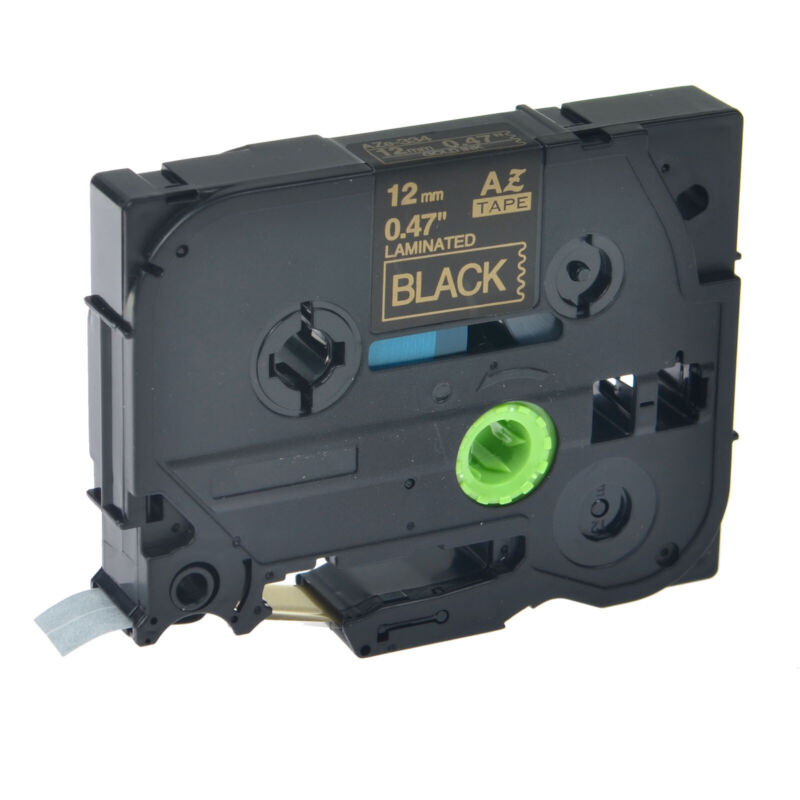 Gold on Black TZ-334 TZe-334 Tape For Brother P-touch PT-D210 12mm Label Maker