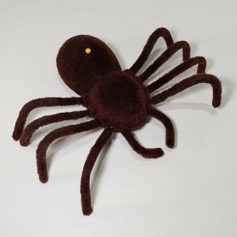 "Action Spider Brown Fuzzy Walks Sounds 10"" x 13"" Scary Halloween Gemmy Ind"