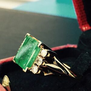 Emerald and Diamonds Ring Valued $5,600 East Brisbane Brisbane South East Preview