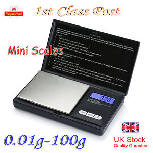 NEW GOLD WEIGHING MINI POCKET DIGITAL SCALES 0.01G ACCURACY-100G CAPACITY UK