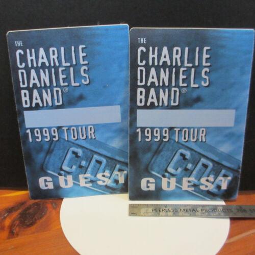 CHARLIE DANIELS BAND 1999 Tour Cloth Backstage Pass; 2-Lot; ex/nm