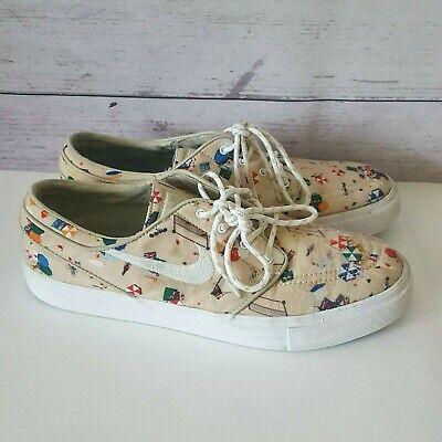 big sale f7079 585d5 Stefan Janoski NIKE Skateboarding Shoes Beach Print Mens Size 9