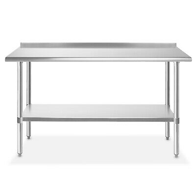 Stainless Steel 24 X 60 Nsf Restaurant Kitchen Prep Work Table With Backsplash