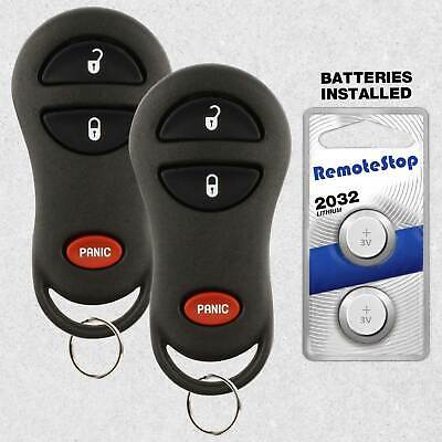 2 For 2002 2003 2004 2005 Dodge Ram 1500 2500 3500 Keyless Car Remote Key Fob