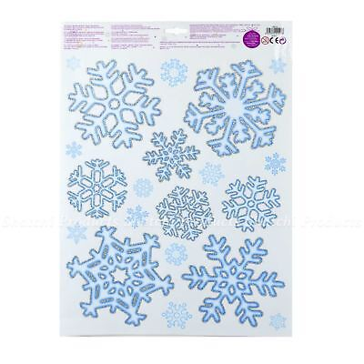 Home Decoration - 40 Snowflake Christmas Clings Window Wall Stickers Decorations Reusable Home