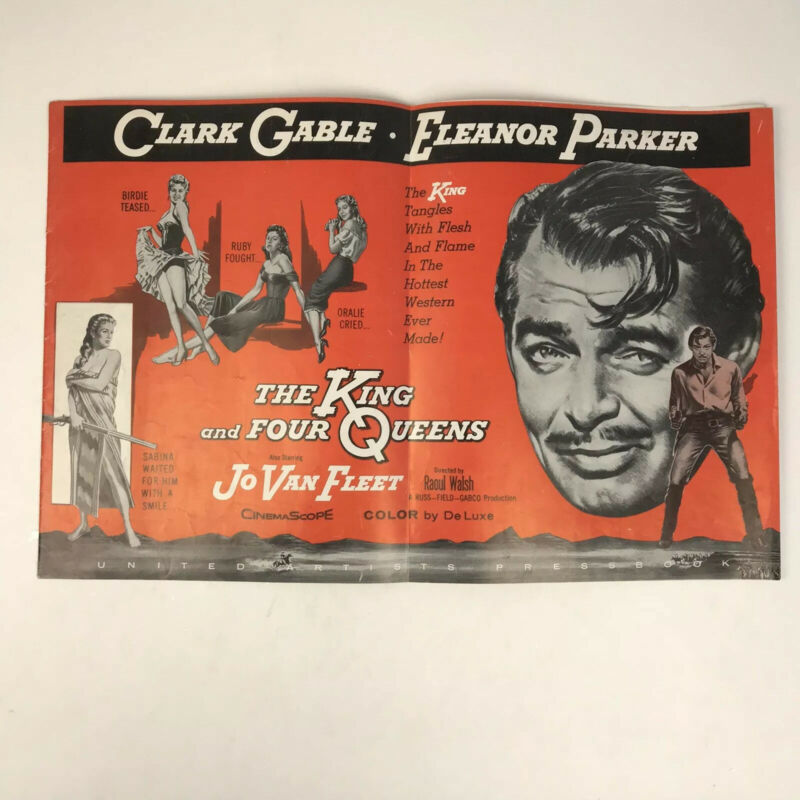Vintage Pressbook The King And Four Queens Movie Clark Gable Eleanor Parker 1957
