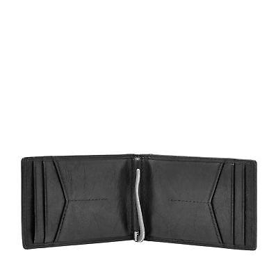 Fossil Men's Ingram RFID Money Clip Bifold Genuine Leather Minimalist Wallet