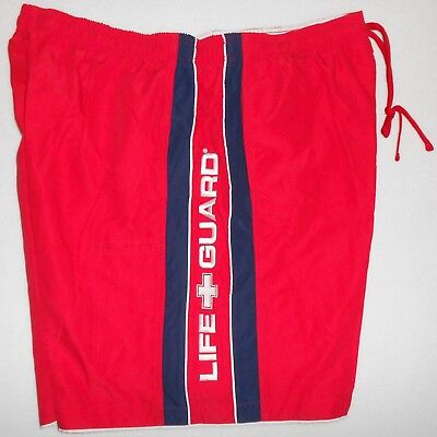 New Mens Bathing Suit XL S Swim Trunks (Extra-Large or Small) Red Swimsuit NWT Bathing Swimsuit Trunks