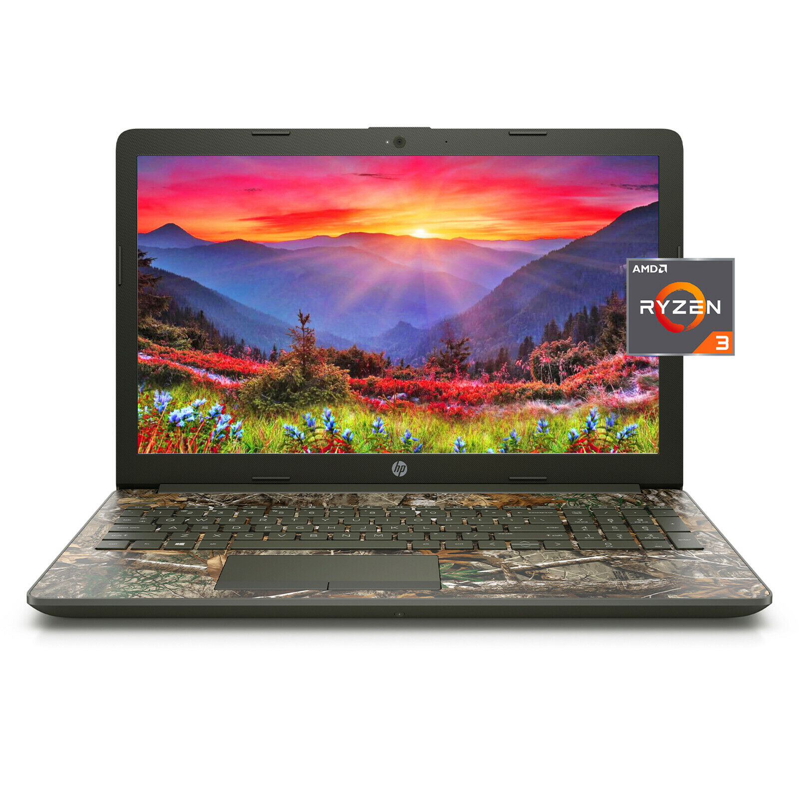 "Laptop Windows - NEW HP 15.6"" HD AMD Ryzen 3 3200U 3.5GHz 8GB 256GB SSD Windows 10 Laptop Camo"
