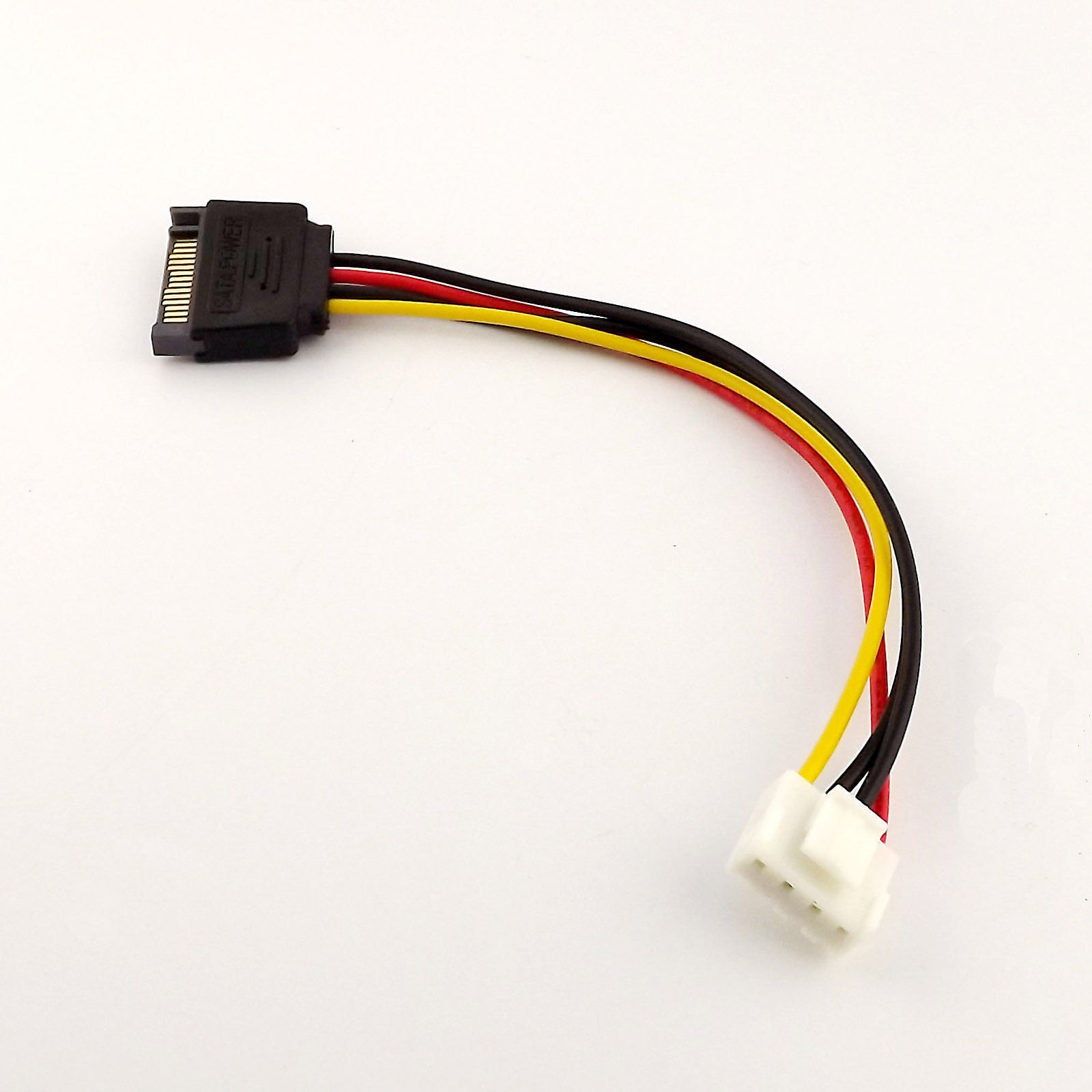 1pc SATA Female 15 Pin to 4 Pin Floppy FDD Female Power Converter Adapter Cable