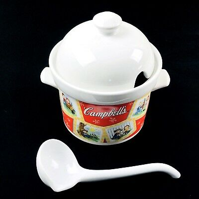 Campbell Soup Company 2003 Tureen Lid  Ladle By Houston Harvest Vintage Kids