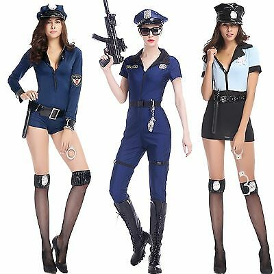 Sexy Role Play Costume Police Girl Uniform Fan Lingerie Hot Halloween Suit Dress (Fangirl Halloween Costumes)
