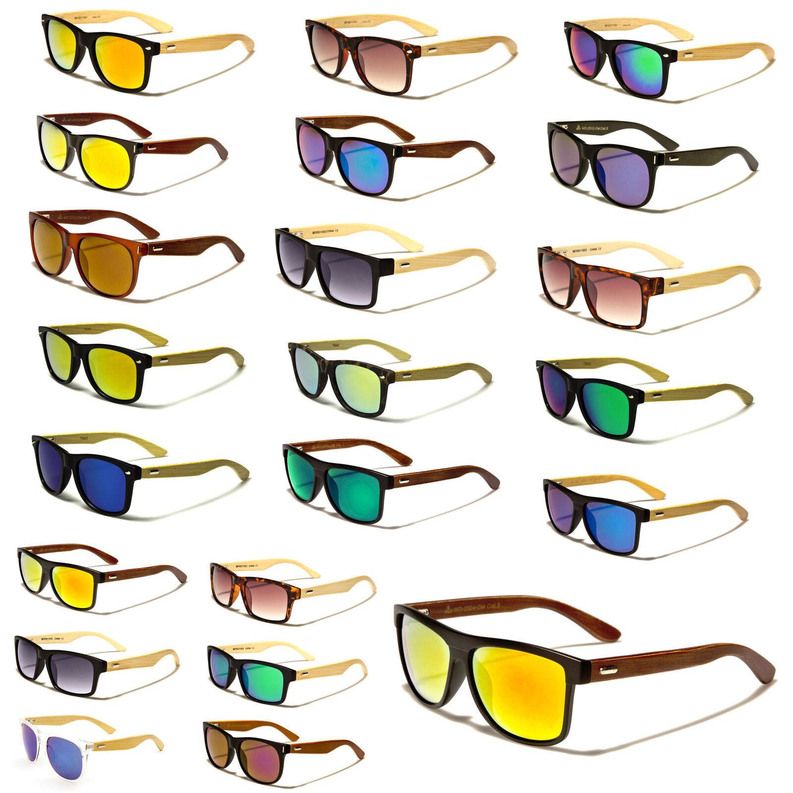 Wayfarer Bambus Holz Sonnenbrille Fashion Unisex 1/1 JOPQHQ1E7s