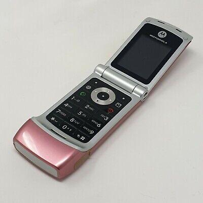 Motorola W377 2G - Flip Phone - Pink - Good Condition - Unlocked - Fast P&P