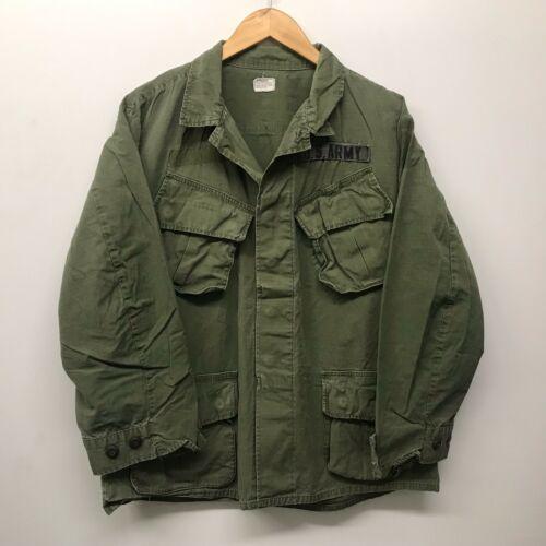 Vintage Jungle Fatigue Shirt / Rip-Stop, Size Medium/Short, US Army J-98