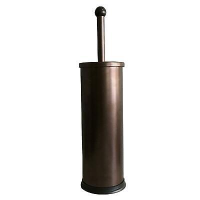 HUJI Rust Resistant Bronze Toilet Brush Holder with Lid Perfect Bathroom -