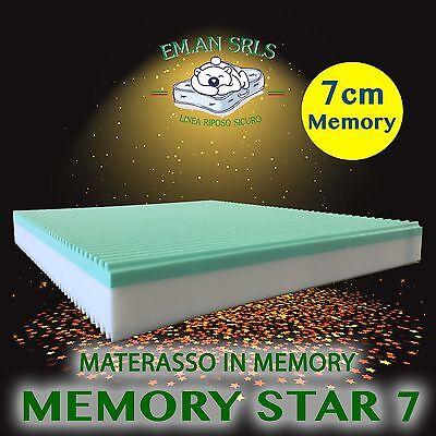 MATERASSO MATRIMONIALE160x190memory 7cmALOE SFODERABILE h24 miglior ...