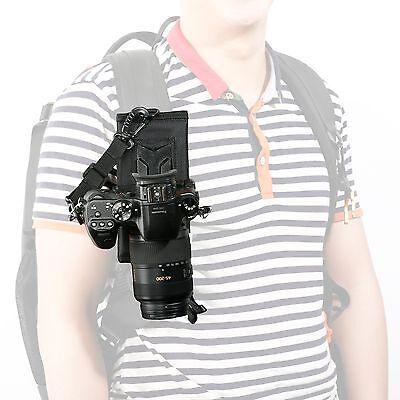 Movo Photo MB200 Universal DSLR/SLR Camera Holster System for Backpack/Camelbak