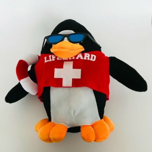 Kellytoy  Lifeguard Penguin Stuffed Plush Toy with sunglasses