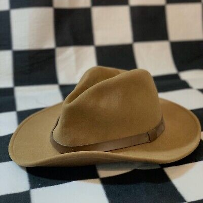 VTG Pendleton Olive Brown Safari Western Wool Hat Mens SZ XL Outdoor Camping Z1