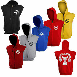Muscle-Works-Gym-London-Sleeveless-Hoodies-Mens-Training-Gillets-Tank-Top-Gym