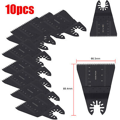 10pcs Oscillating Saw Blades Multi Tool 65mm For Fein Multimaster Dewalt Makita