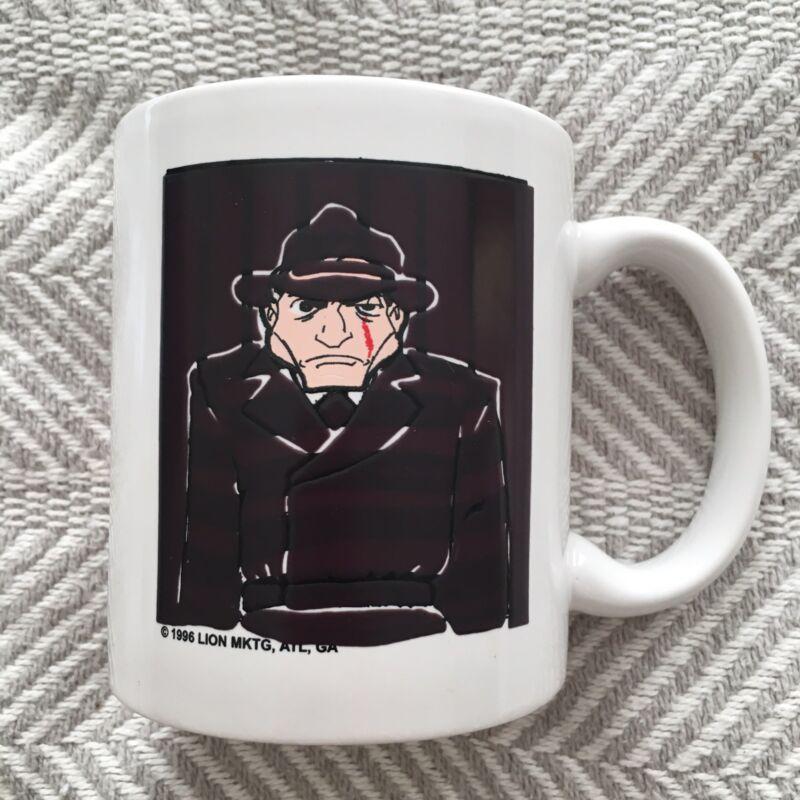 THE FBI ALWAYS GETS THEIR MAN Operation Bullpen COFFEE MUG M Ware Lion MKTG 1996