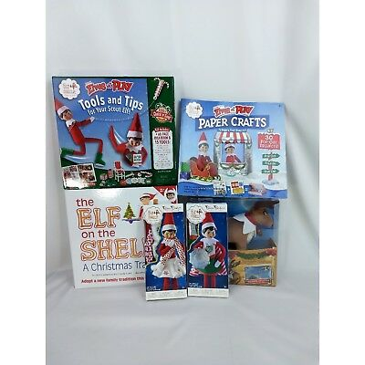 Elf On The Shelf Girl Doll Starter Kit Six Piece Set Christmas Reindeer Outfits
