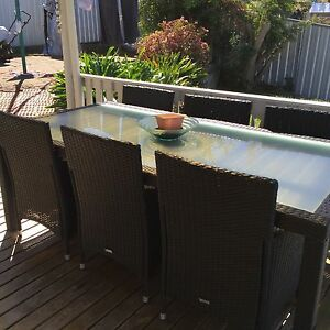 Outdoor Dining Setting Cardiff Lake Macquarie Area Preview