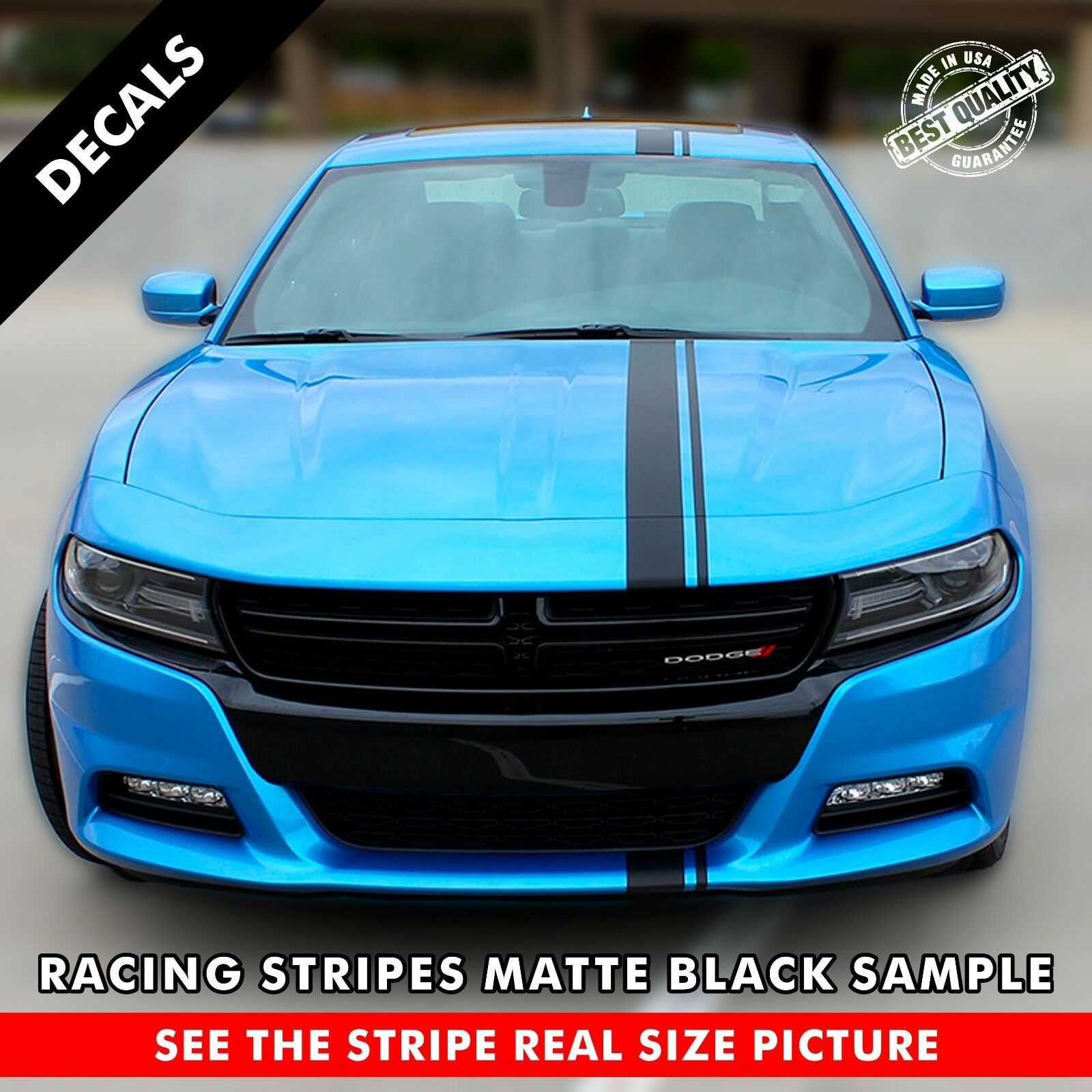 Single Offset Rally Racing Stripes For Any Car One Stripe 72