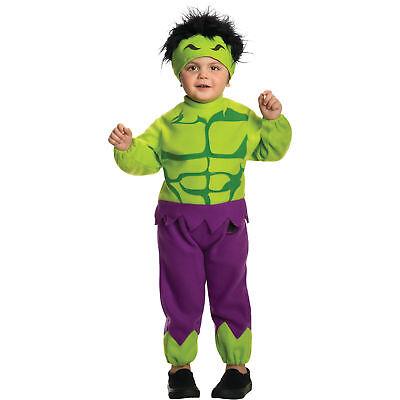 Babys Marvel Classics Avengers Assemble Fleece Hulk Costume - Toddler Sized