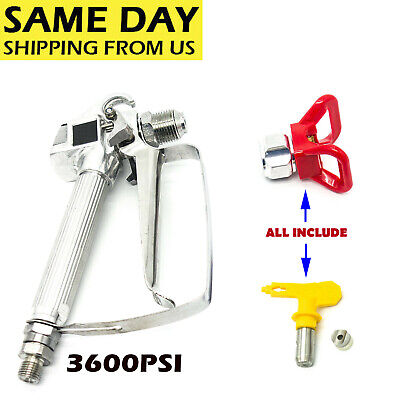 3600PSI Airless Paint Spray Gun w/Tip&Tip Guard For TItan Wagner Sprayers US for sale  USA