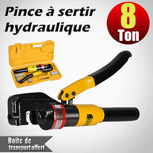 kit pince sertir 8 ton hydraulique sertissage 9 matrice c ble pr cosse 4 70mm2 ebay. Black Bedroom Furniture Sets. Home Design Ideas