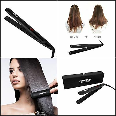 Iron Hair Straightener Unrealistic a low shoes Ceramic Professional Steam Brush Hairstyling Black