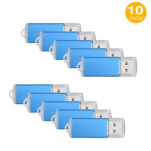 Lot10 4gb Usb 2.0 Flash Pen Drive Rectangle Model Memory ...