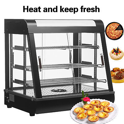 1527 Commercial Food Pizza Warmer Cabinet Countertop Heated Display Case .