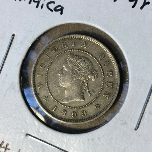 1899 Jamaica 1 Farthing Coin XF/AU Condition