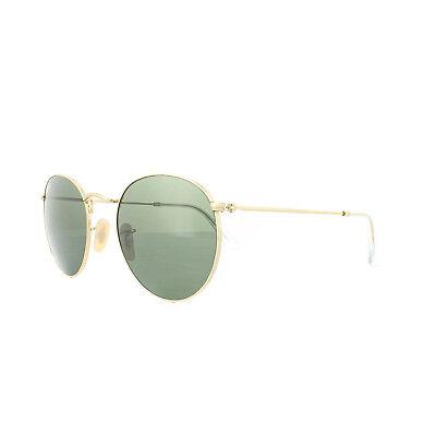 Ray-ban Sonnenbrille Runde Metall 3447 001 Gold Grün Groß