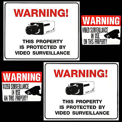 Lot Of Cctv Spy Security Video Surveillance In Use Camera Warning Signsstickers