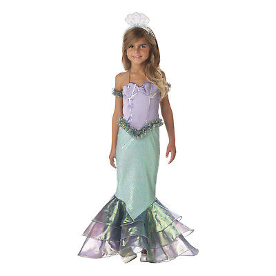 Toddler Kids Girls Little Mermaid Ariel Halloween Cosplay Costume Dress Headband](Toddler Mermaid Halloween Costume)