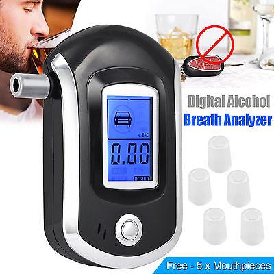Digital LCD Police Breathalyzer Breath Test Alcohol Tester Analyzer Detector UK