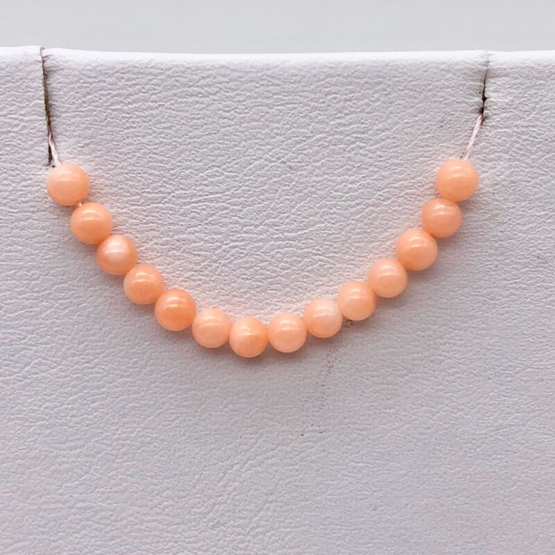 14 AAA+ Natural Salmon/Pink Coral Beads 2600
