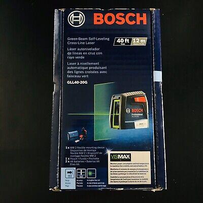 New Bosch GLL40-20G Green Beam Self Leveling Cross Line Laser