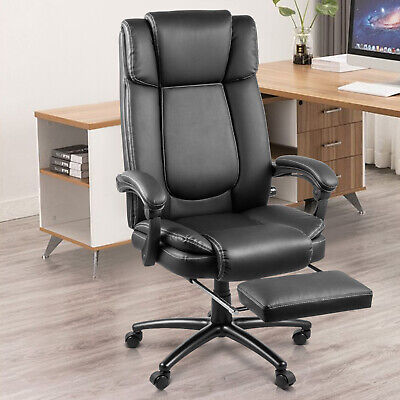 High Back Leather Office Chair Executive Office Desk Task Computer Chair Swivel