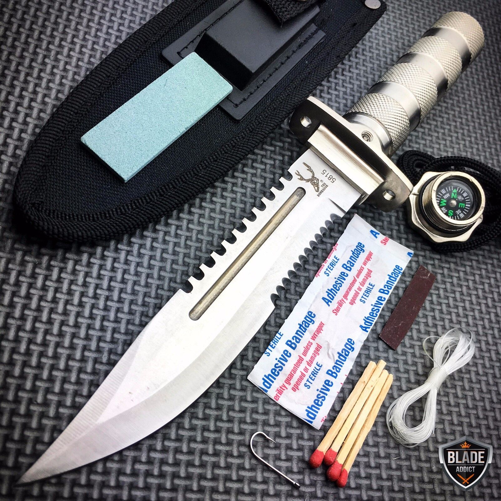 11 tactical fishing hunting camping knife fixed
