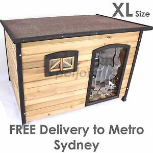XL Wooden Dog Timber Kennel Extra Large Outdoor Pet Wood House s2 Sydney City Inner Sydney Preview