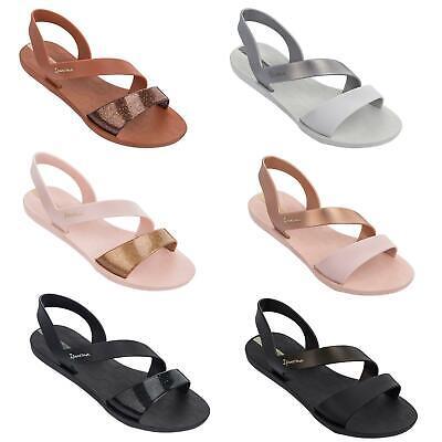 Ipanema Vibe Slip On Ankle Strap Sandals in Black, Bronze & Rose Pink 82429