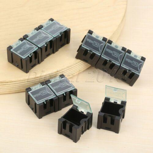 10 x Pink Mini Composable Electronic Component Parts Storage Case Box SMT SMD