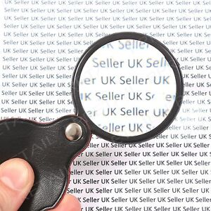 SMALL Folding MAGNIFIER GLASS POCKET SIZE Optical Magnifying Lens Mini Eye Loupe