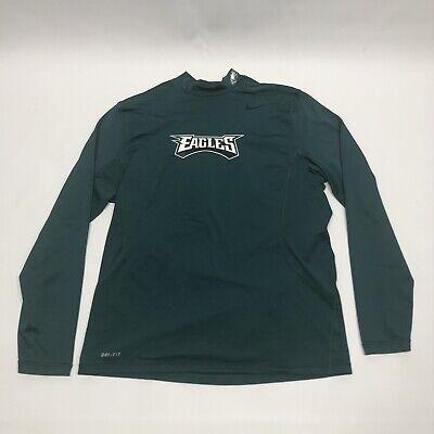 Nike Dri-Fit Philadelphia Eagles Mock Neck Long Sleeve Shirt Men's XL On Field Dri Fit Mock Neck Shirt